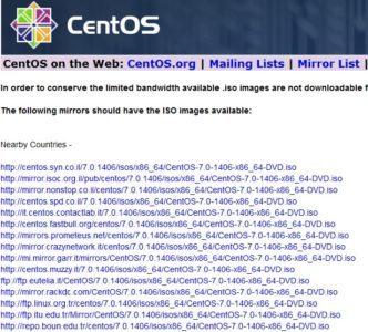 Centos-7_Download_links