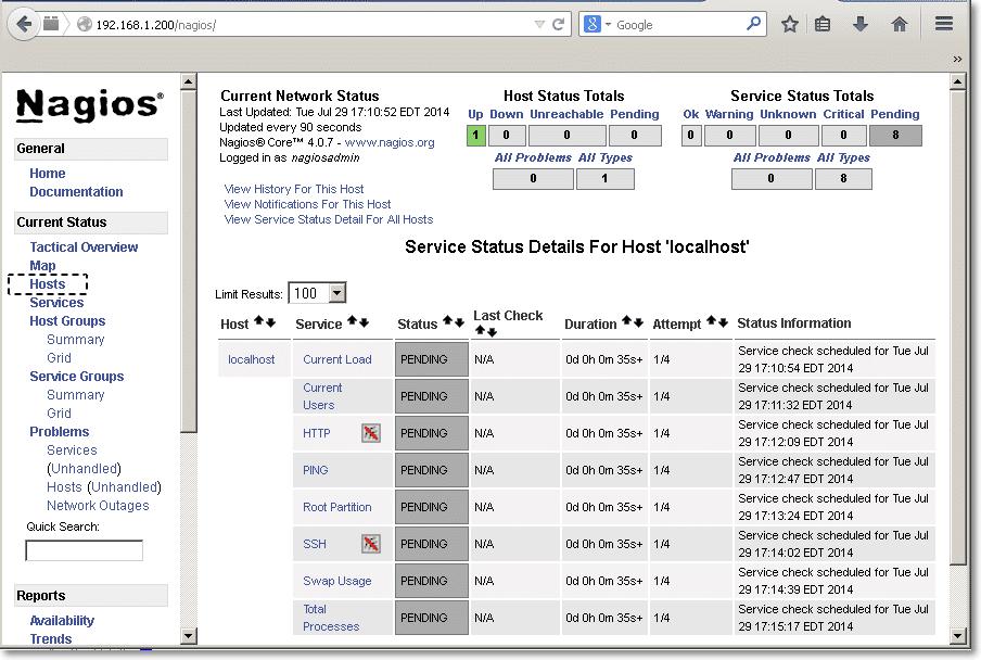 Nagios Monitoring for Linux Server