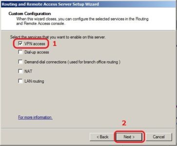 VPN Access Server 2008