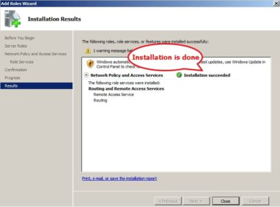 Server Role Installation