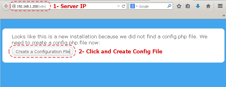 Use Web Installer to Create Configuration File