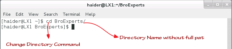 Change Directory with Relative Path