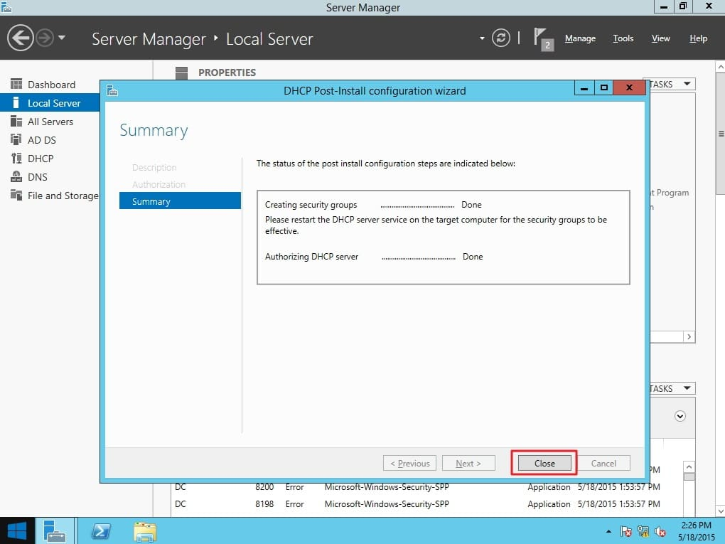 Dhcp Installation On Windows Server 2012 R2